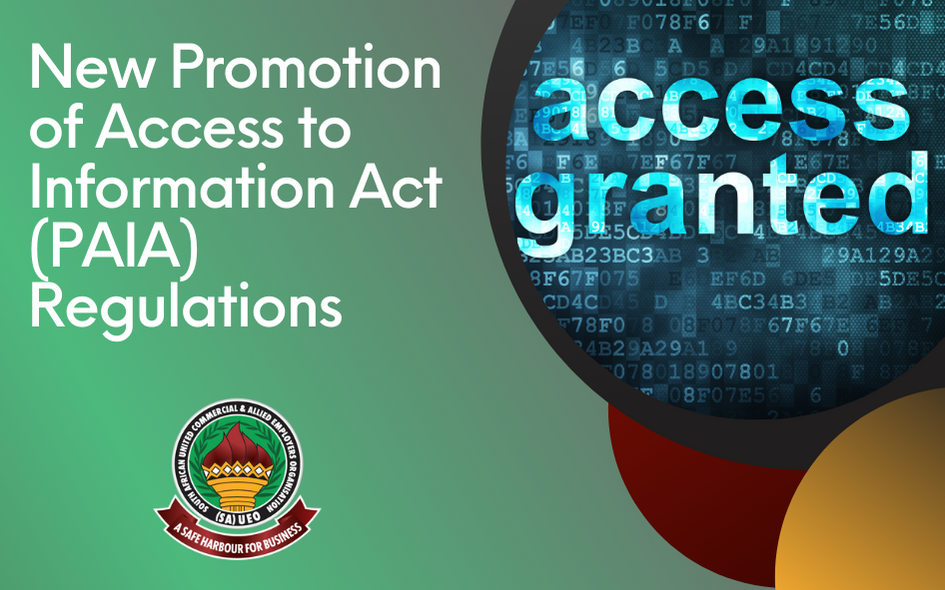 New Promotion of Access to Information Act (PAIA) Regulations